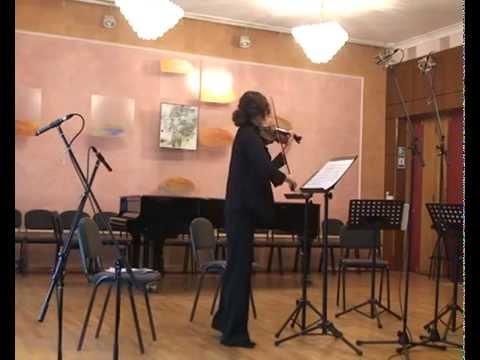 Anna Leonova.  Toccata for violin solo.