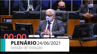 PLENÁRIO - Sessão para a votação de propostas legislativas - 24/06/2021 10:00