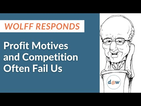Wolff Responds: Profit Motives and Competition Often Fail Us