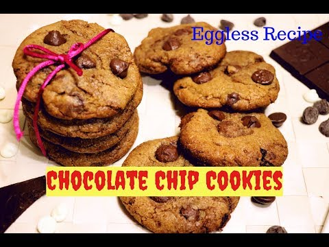 Chocolate chip cookies|Eggless Cookies Recipe|How to make Chocolate Chip Cookies by Priyanka Rattawa