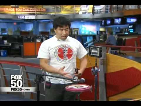 WRAL-TV 2011 WFD Speed Drumming Champ Eric Okamoto using WFD drum corps sticks