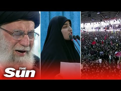 Qasem Soleimani funeral - Huge crowds as daughter threatens US