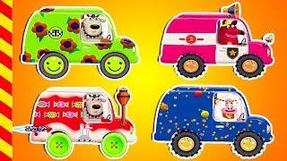 Веселые машины в гараже на ремонте. Машинки все серии 15 МИН. Развивающие машинки для детей.