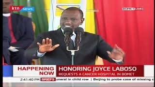 DP Ruto: I was so sure Joyce Laboso was going to make it, I regret I wasn't right