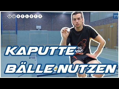 Kaputte Tischtennis-Bälle wegwerfen? - So kann man sie im Training nutzen - Tischtennis Helden