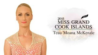Teau McKenzie Miss Grand Cook Islands 2018 Introduction Video