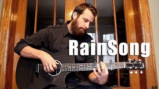 RainSong Fingerstyle Acoustic Guitar Featuring two Capos