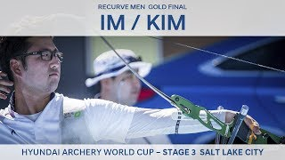 Im Dong Hyun v Kim Woojin – Recurve Men Gold Final   Salt Lake City 2017