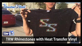 How to get a Rhinestone look with Holographic Heat Transfer Vinyl TRW Baby Bling