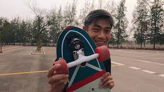"""Flying Wheels Surf Skateboard 31.5"""" Luska Review and Test Ride"""