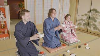 Japanese Tea Ceremony In A Kimono