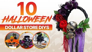 Top 10 Halloween Dollar Store DIY's! Spooky Halloween Decorations Ideas for your home/2020