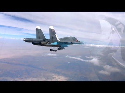 Нанесение авиаударов в провинциях РАККА и АЛЕППО