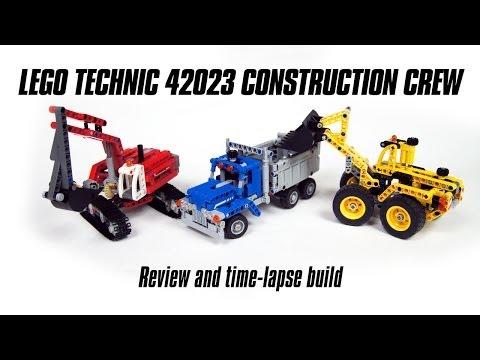 Vidéo LEGO Technic 42023 : L'équipe de construction