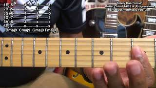 How To Play JOSIE Steely Dan Chord TABS & Chord Progressions On Guitar Tutorial