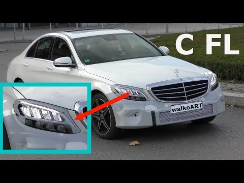 Mercedes C-Class Facelift Finally Shows Interesting LED Headlights