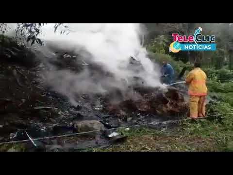 Incendio en predio de Tantoyuca moviliza equipos de emergencia