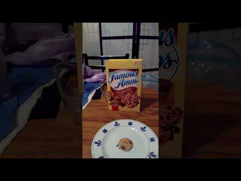 Famous Amos Bite Size Cookies Chocolate Chip Review Video.