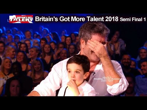 Simon Cowell and son Eric who Steals the Show  Britain's Got Talent 2018 Semi Final  BGT S12E08 (видео)