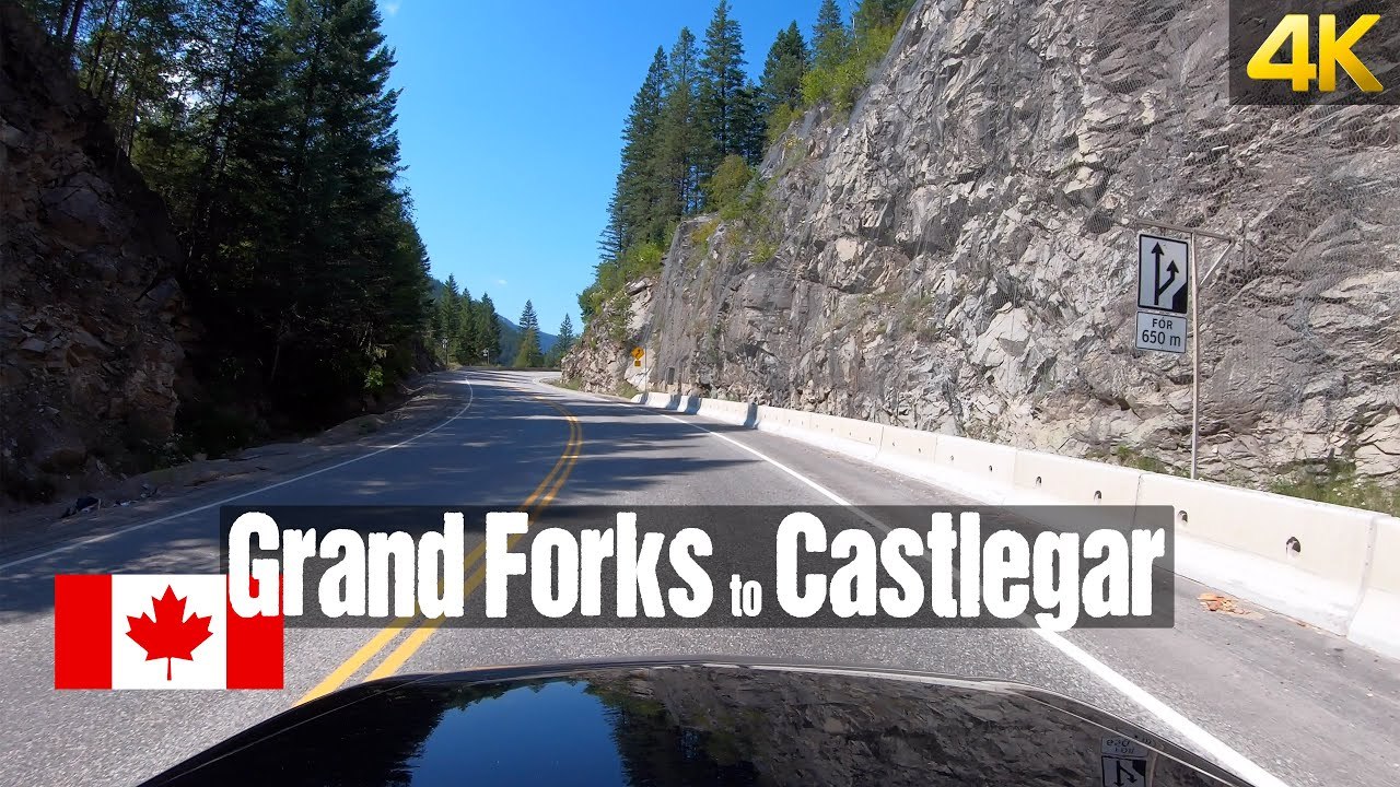 Driving from Grand Forks to Castlegar | Canada Road Trip in 4K