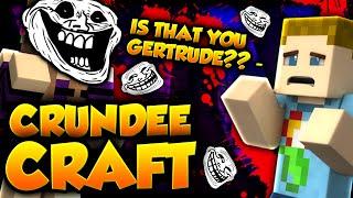 Minecraft: GERTRUDE JUMP SCARE TROLL | CRUNDEE CRAFT