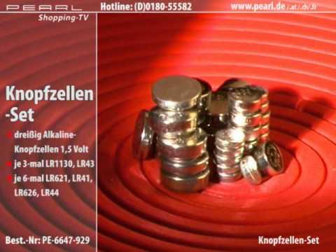 Knopfzellen im Mega-Sparpack 30Stück LR41/LR43/LR44/LR621/LR626/LR1130