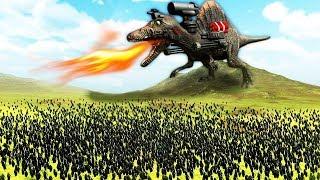 ДИНОЗАВР С ПУШКАМИ ПРОТИВ АРМИИ ПИНГВИНОВ! ( Beast Battle Simulator )