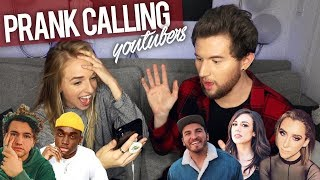 PRANK CALLING YOUTUBERS BUT WE CAN'T HEAR THEM - Video Youtube