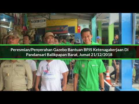 BPJS Ketenagakerjaan Balikpapan Serahkan Bantuan Gazebo