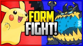 Guzzlord  - (Pokémon) - Pikachu vs Guzzlord | Pokémon Form Fight (April Fools 2018)