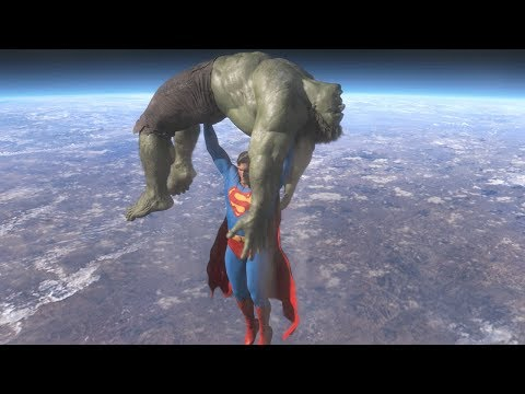 Superman vs Hulk - The Fight