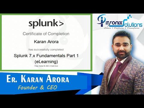 Splunk Fundamentals Certification - Splunk Training + Certification ...