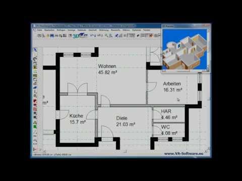 Grundrisse erstellen & zeichnen mit VA HausDesigner Professional 2 | Grundrisse planen in 2D & 3D