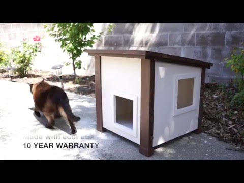 New Age Pet Outdoor Feral Cat House Video