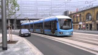 preview picture of video 'Chemnitz Hbf Straßenbahndurchfahrt 17.06.2014'