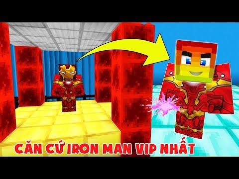 Căn Cứ Iron Man Vip Nhất Minecraft ???