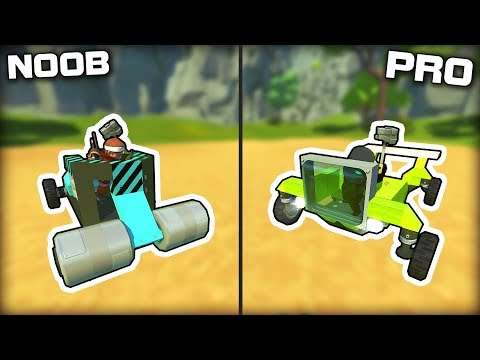 NOOB vs PRO Hammer Powered Only Challenge! (Scrap Mechanic Gameplay)