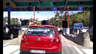 preview picture of video '#novullpagar 1 de maig Peatge dels Túnels de Vallvidrera'