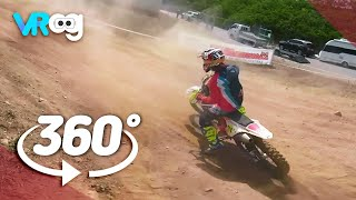Exciting Off road motorcycle race-360° VR video (5K)