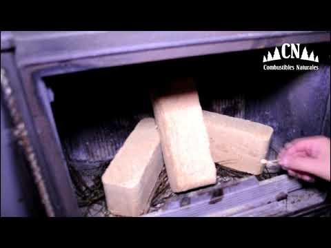 VIDEO COMPARATIVA COMBUSTIÓN LEÑA - BRIQUETAS DE MADERA
