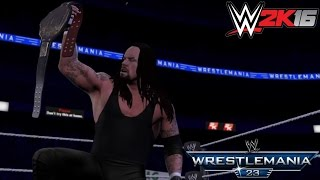 WWE 2K16 Recreation: Undertaker wins the World Championship at WM23!