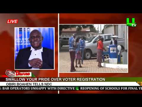 Swallow your pride over voter registration – Obiri Boahen tells NDC