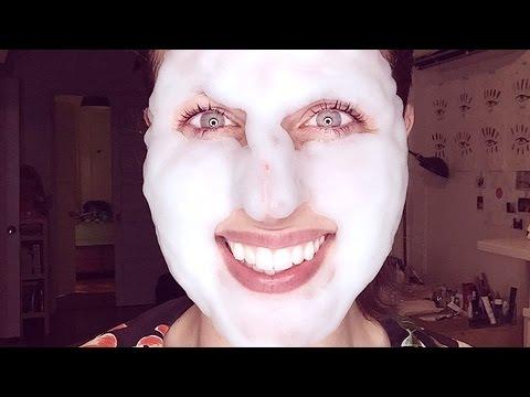 Maschera per pelle di faccia da un tuorlo
