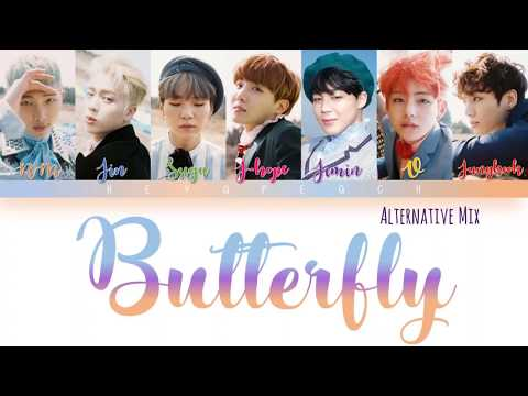 BTS (방탄소년단) - Butterfly (ALTERNATIVE MIX) Lyrics [Color Coded Han_Rom_Eng]