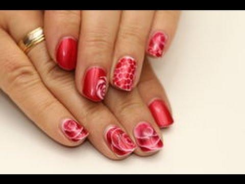 Gel Malerei nass in nass mit  gel Polish Farben  - nothing but nails