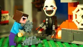 Приключения в Шахтах LEGO Minecraft - Лего НУБик Майнкрафт Мультики и ФНАФ FNAF