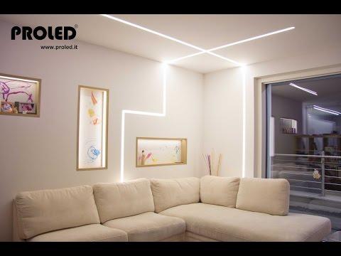 nicchie illuminate + strisce led dimmer a pulsante illuminazione indiretta