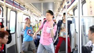 Dancing on board and at train stations