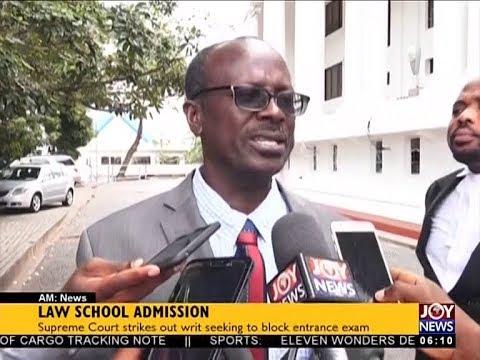 Law School Admission - AM News on JoyNews (19-7-18)