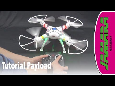 Jamara Quadrocopter Drohne Payload - Tutorial der Montage